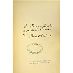Farran Zerbe's Copy, Inscribed to Him by the Author