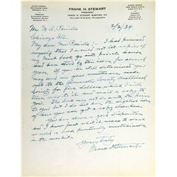 Correspondence between Frank H. Stewart and M.A. Powills