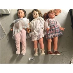 Group of Large Vintage Dolls