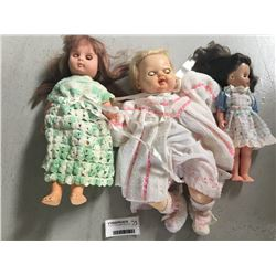 Group of Three English Made Dolls