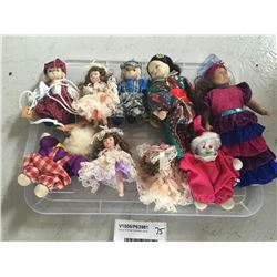 Group of Small Porcelain Dolls