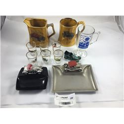 Group of Collectable Car Items Inc. Wade Mugs
