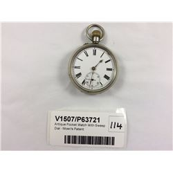 Antique Pocket Watch With Sweep Dial - Moeri's Patent