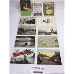 Group of Antique Postcards Inc. Ships at English Port