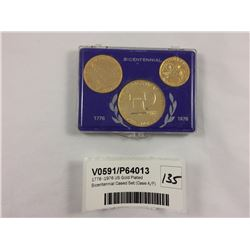 1776 -1976 US Gold Plated Bicentennial Cased Set (Case A/F)