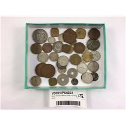 Good Group of World Coins Including Silver