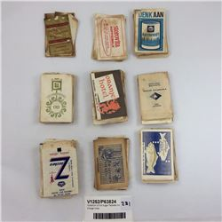 Collection of Old Sugar Packets Inc. Orange Hotel