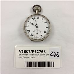 Early Open Face Pocket Watch with King Geroge Lever