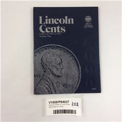 Whitman Folder of Linclon Cents 1909-1940 Inc. Coins
