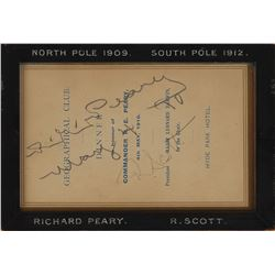 Robert Falcon Scott and Robert E. Peary