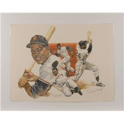 Joe DiMaggio, Willie Mays, and Brooks Robinson