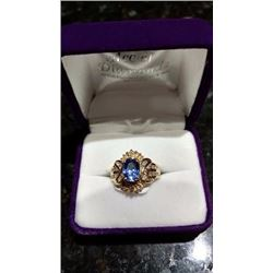 14 KY Yellow Gold Ladies Ring