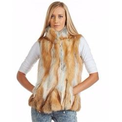 Natural Grey and Red Fox Vest