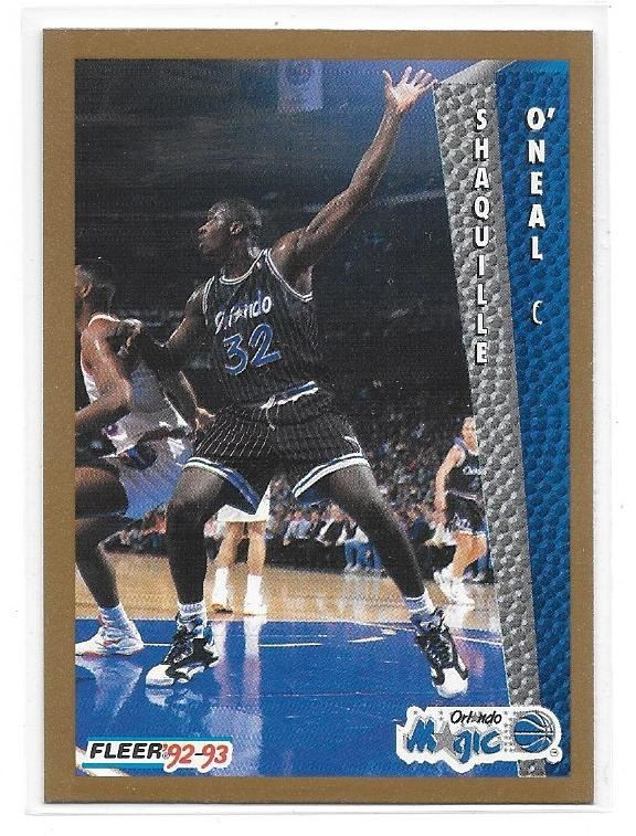 Image 1 1992 93 Fleer Shaquille ONeal Rookie Card 401