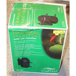Totalpond pressurized biological pond filter with for Biological pond filter