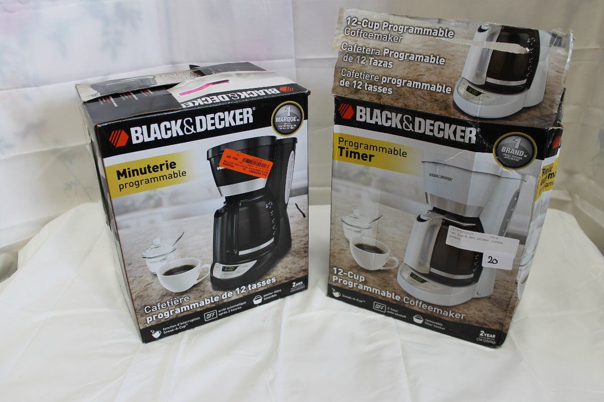 TWO BLACK AND DECKER COFFEE MAKERS - Big Valley Auction