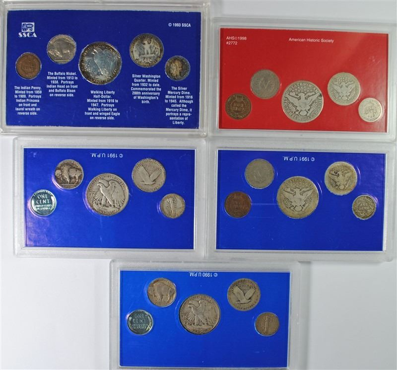 Image  Piece Coins Sets With Silver Half Quarter