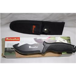 "1 - 9"" BOLEEFUN Hunting Knife with Skinning Hook"