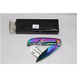 "1 - Multi Color 3"" Lock Blade .440 Steel"