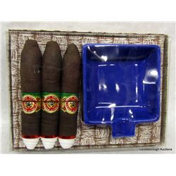 NOVELTY CIGARS AND ASHTRAY