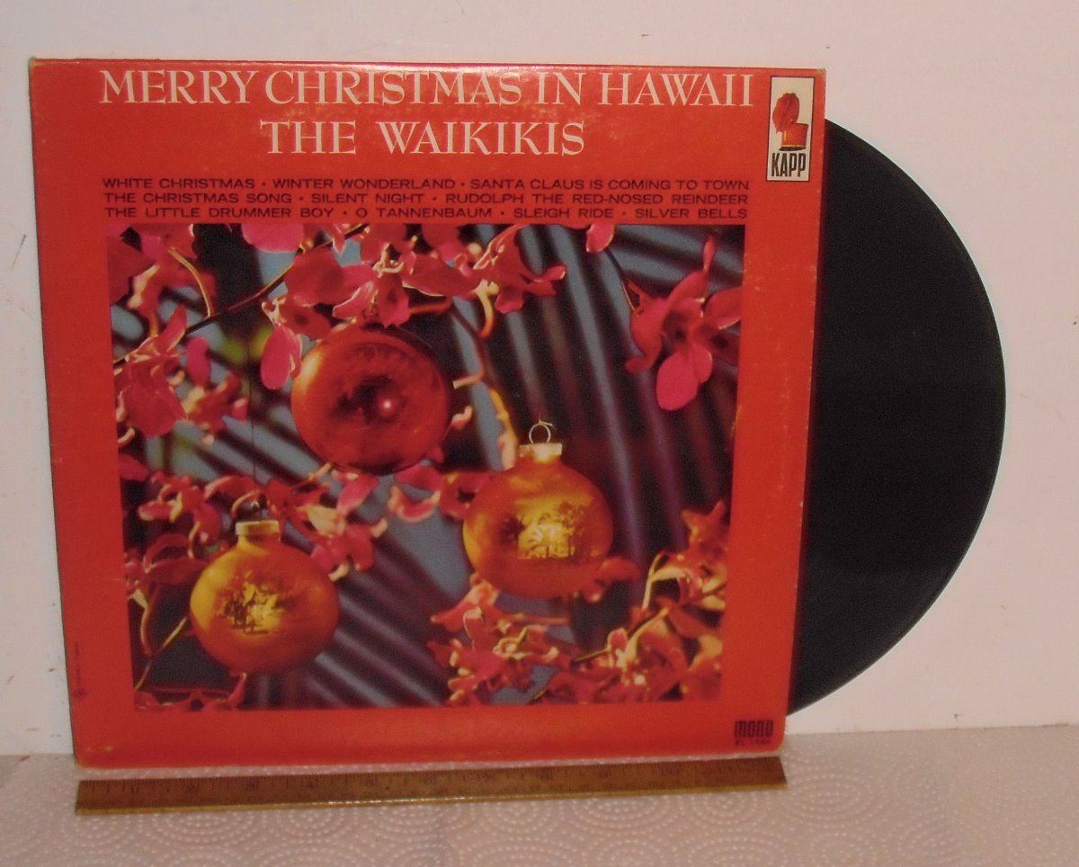 image 1 old record merry christmas in hawaii the waikikis lp 33 vieux disque - Merry Christmas In Hawaii