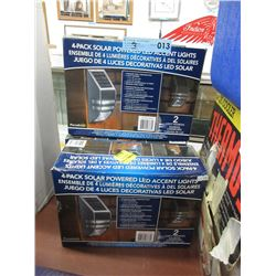 3 Boxes of 4-Pack Solar Powered LED Lights