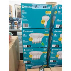 4 Boxes of Ecosmart LED 65 Watt Lightbulbs