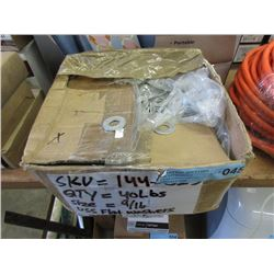 """Approximately 40 Lbs. of 9/16"""" Flat Washers"""