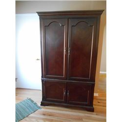 Large, Solid Wood Electronics Cabinets