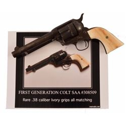 Colt SAA .38-40 with Ivory Grips