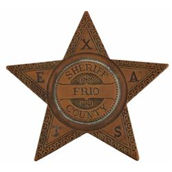 Texas Ranger & Frio Co Sheriff Walter Durbin Badge