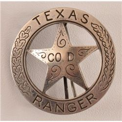 Texas Ranger Company D Badge