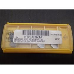 New Kennametal NG3047L Carbide Inserts, 4 Total