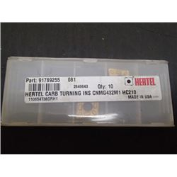 New Hertel CNMG432M1 Carbide Inserts, 2 Total