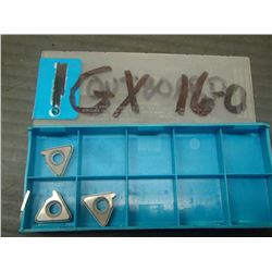 New SECO GX 16-0 Single-Tooth Anvil Carbide Inserts, 3 Total