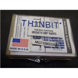 THINBIT MGTI080D2R Inserts, 5 Total