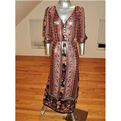 1970 Layering Hobo Dress Chiffon Paisley Maxi