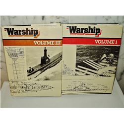 Warships 2 hardcover Volumes  1 and 3  Naval Institute UK