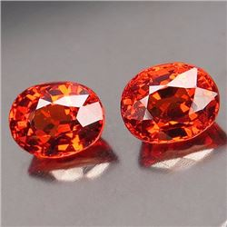 Matching Orange Spessartites 2.091 Cts - VVS