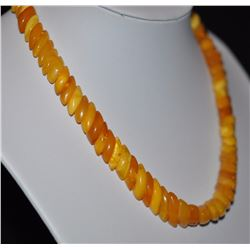 Antique Natural Butterscotch Egg Yolk Amber Necklace