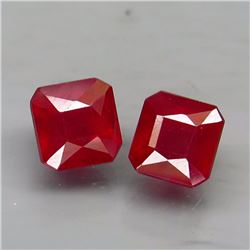 Natural African Ruby Pair 3.45 Ct