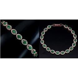 Natural Green Emerald Bracelet
