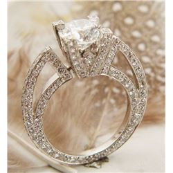 3.10 ct Diamond Ring SI1/I - (Heavy)