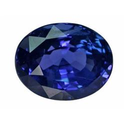 Natural Vivid Blue Sapphire 4.24 Carats -FL / Certified
