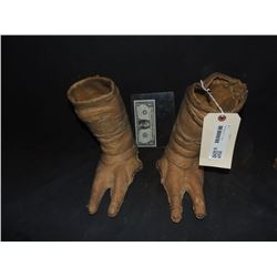 ET THE EXTRA TERRESTRIAL PUPPET FEET FROM ORIGINAL PRODUCTION ONLY PAIR KNOWN TO EXIST