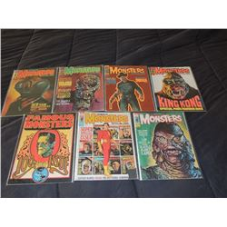 Z-CLEARANCE FAMOUS MONSTERS OF FILMLAND 100 - 109 LOT OF 7