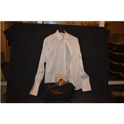 HUNGER GAMES MOCKING JAY CAST & CREW GIFTS WITH DONAL SUTHERLAND WORN SHIRT