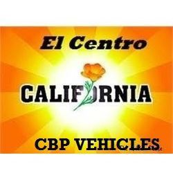 EL CENTRO, CALIFORNIA CBP VEHICLES