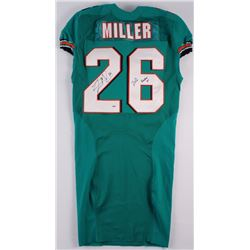 """Lamar Miller Signed Dolphins Game Issued Jersey Inscribed """"2012 Rookie Yr"""" (PSA COA) (JSA)"""