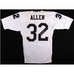 """Marcus Allen Signed Raiders Vintage Game Model MacGregor Jersey Marked """"Designed  Tailored Exclusive"""